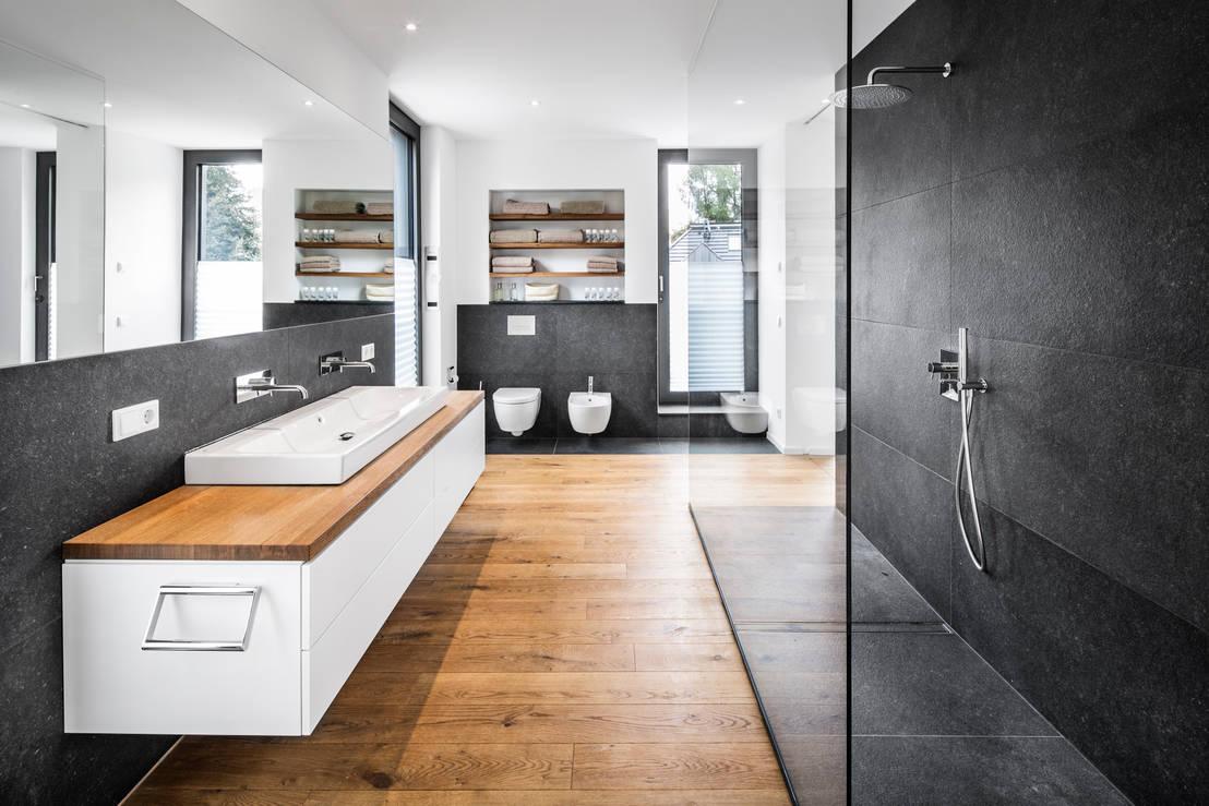 10 fant sticas e modernas casas de banho com chuveiro for Casa moderna bagni