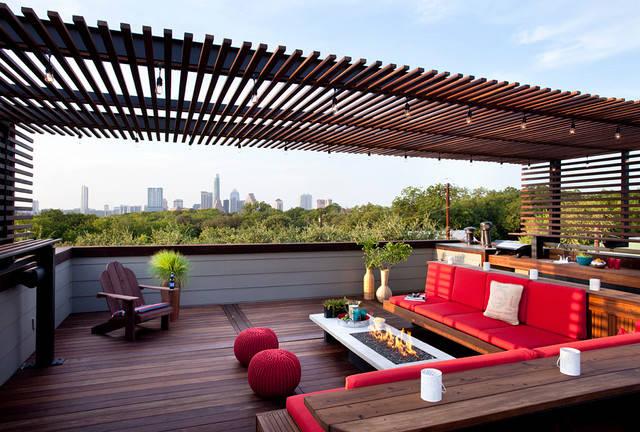 10 id es de toit terrasse moderne. Black Bedroom Furniture Sets. Home Design Ideas