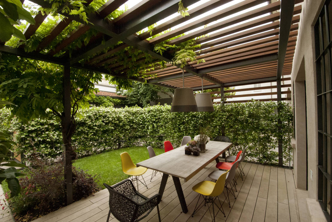 Come sfruttare gli spazi non usati in giardino - Terrazzo giardino ...