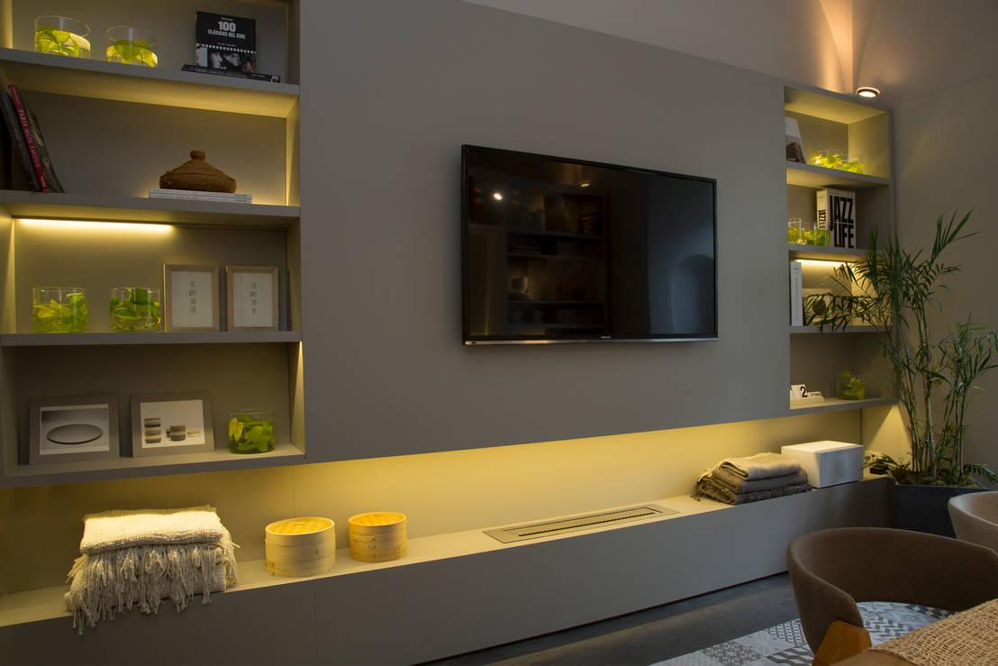 Salas modernas 5 m veis de tv perfeitos for Muebles contemporaneos argentina