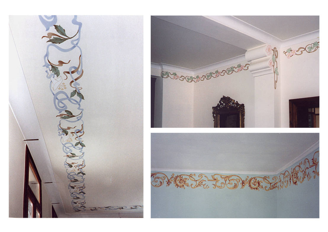Decori per pareti di erica de rosa dipinti affreschi for Decorazioni pareti