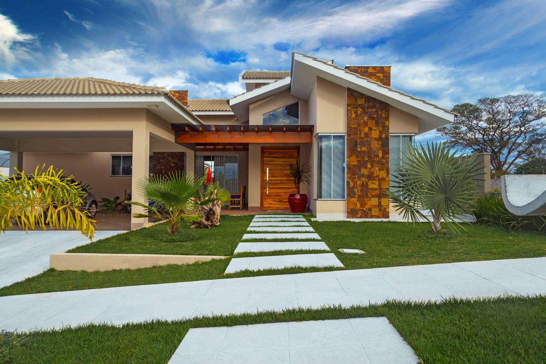 5 casas de un piso que te inspirar n a dise ar la tuya con for Fotos de casas modernas brasileiras