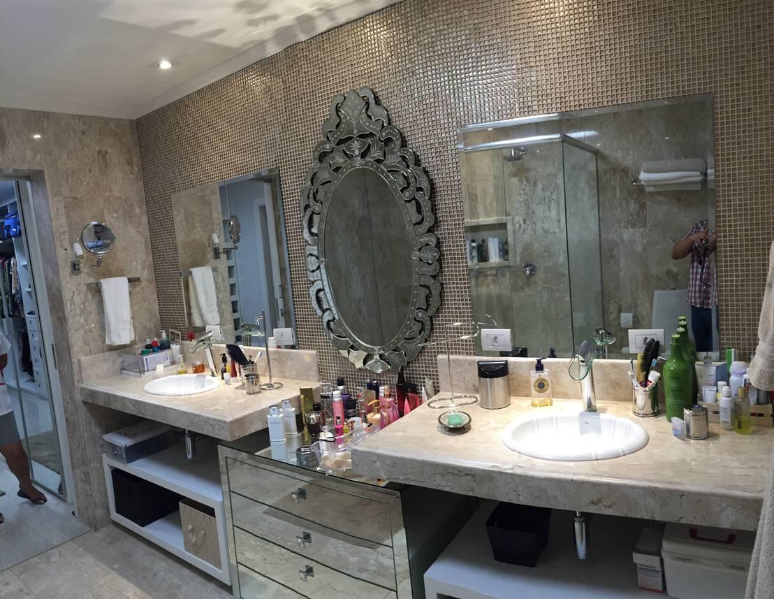 27 banheiros de casal para sonhar acordado -> Banheiro Moderno Casal
