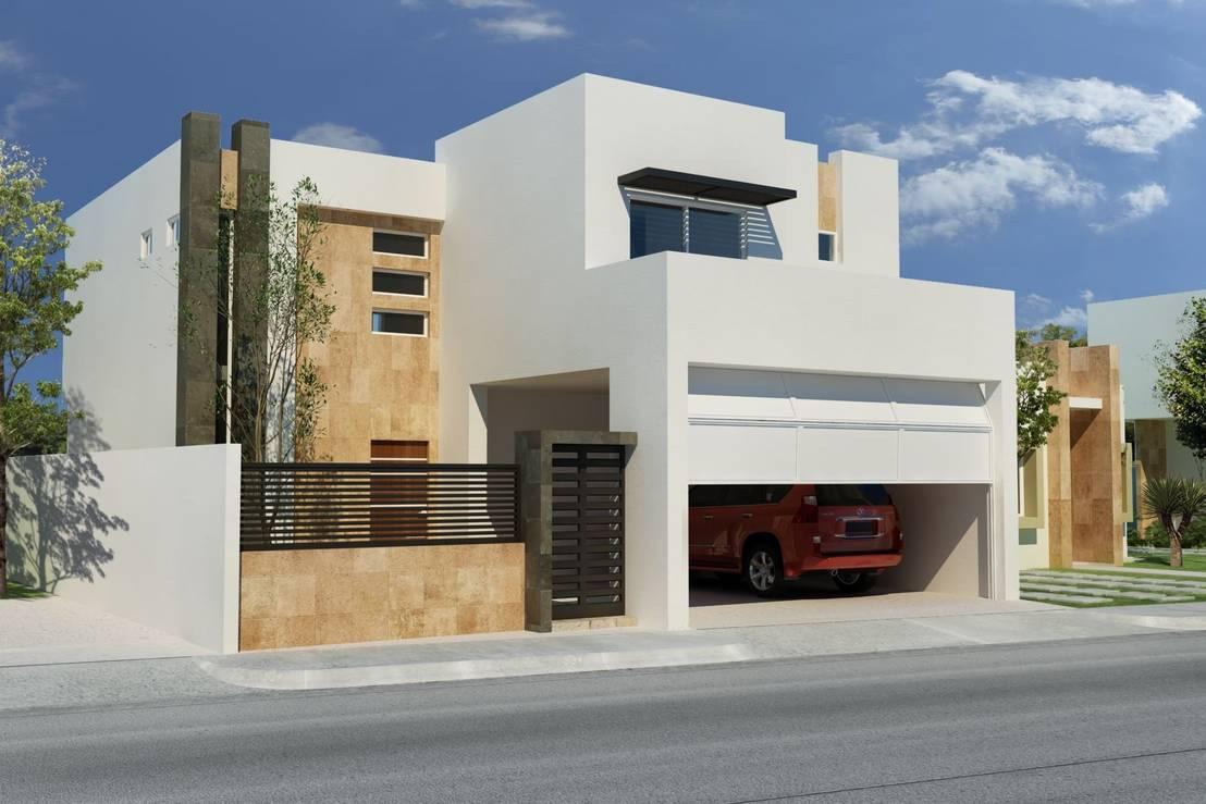 32 fachadas de casas de dos pisos que debes ver antes de for Casa minimalista 2 plantas