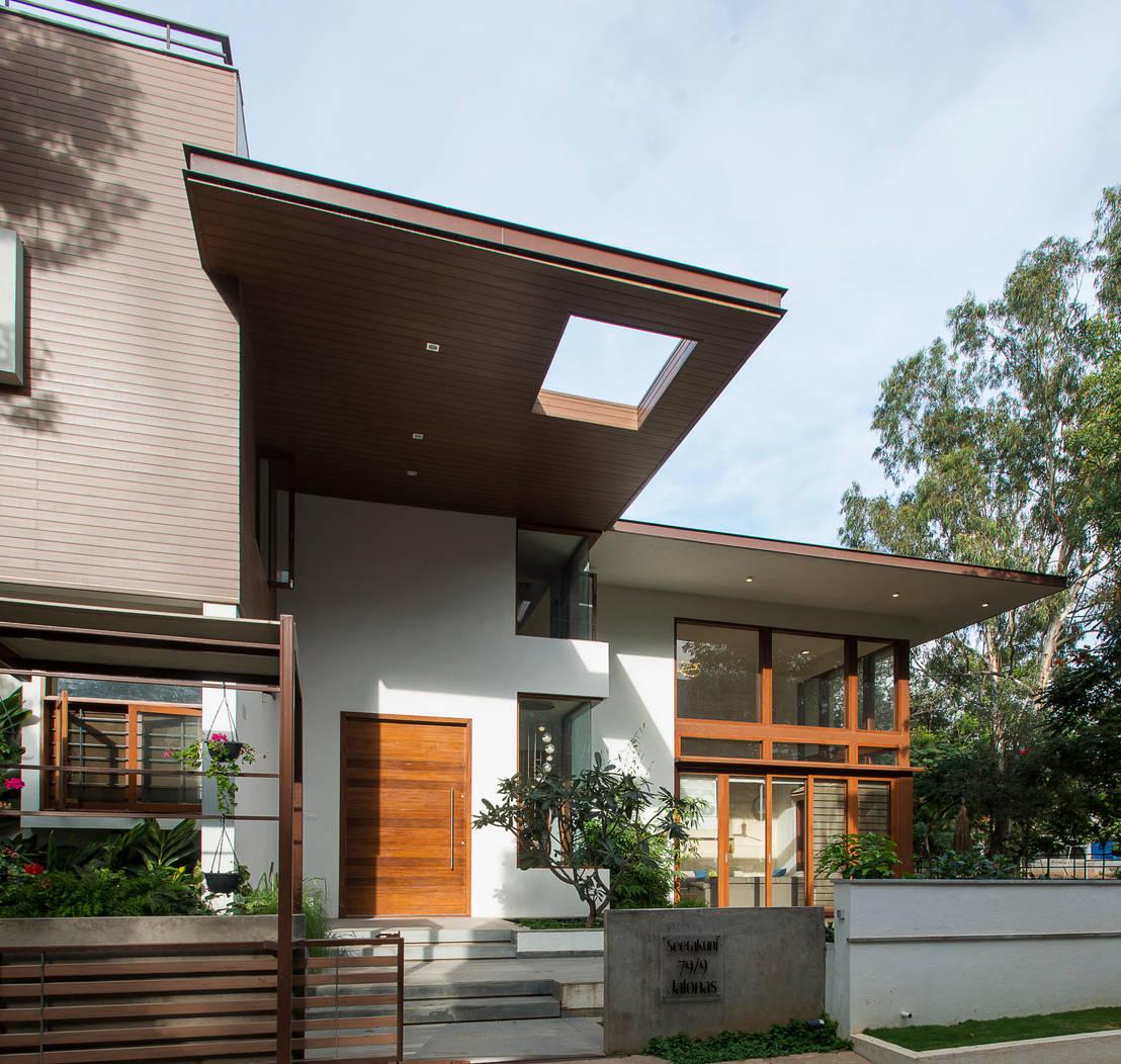 Indian Home Exterior Design Photos: Rumah Modern Dengan Sentuhan Tradisional Yang Fantastis