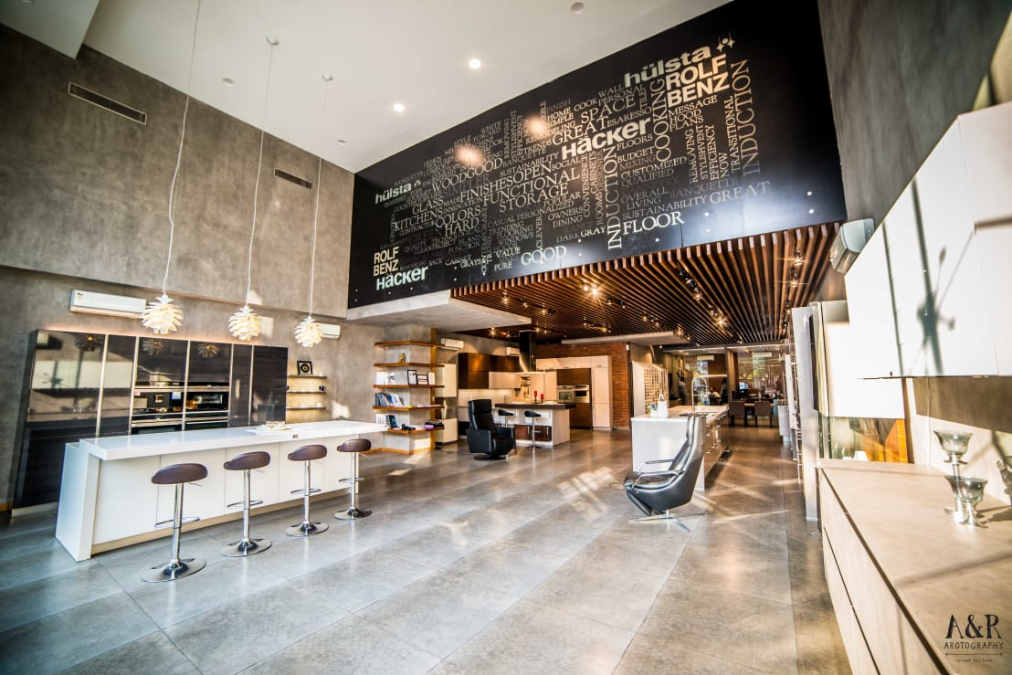 Hyderabad showroom by hacker kitchen homify
