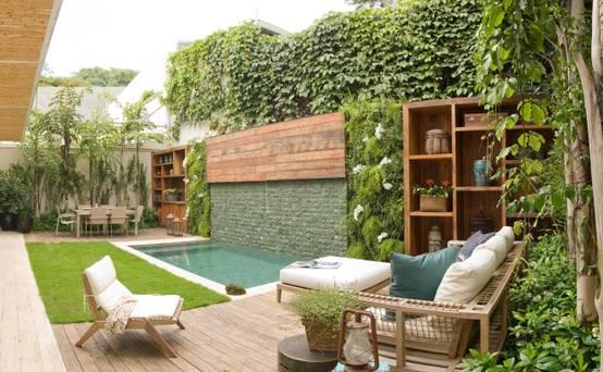 13 lindas ideias para revestir suas paredes externas - Decoracion de espacios pequenos exteriores ...