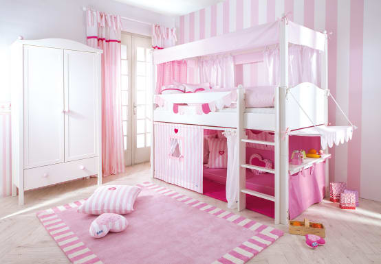 kinderzimmer f r m dchen 10 bezaubernde ideen. Black Bedroom Furniture Sets. Home Design Ideas