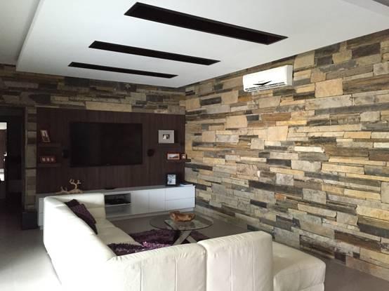 12 Ideas para revestir las paredes de la sala con piedra