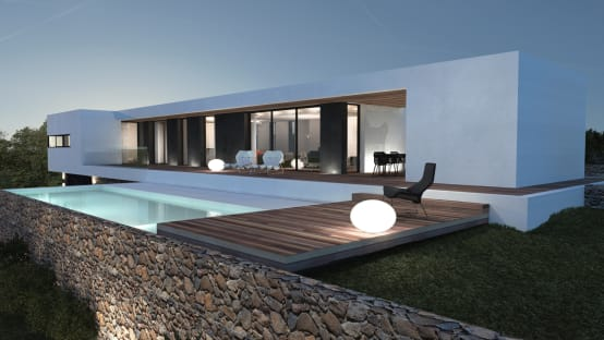 20 motivi per preferire le case a tetto piano for Entrate case moderne