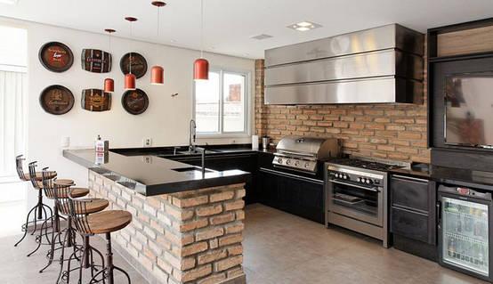 TOP 5: Cocinas con ladrillo, paredes de piedra ¡Y MÁS !
