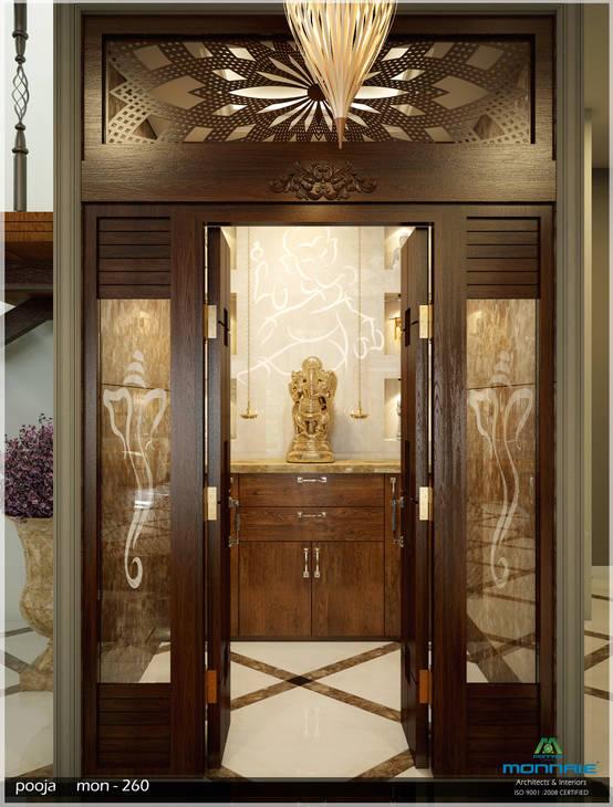 10 Pooja Room Door Designs That Beautify Your Mandir Entrance: 10 Design Ideas For Your Pooja Room