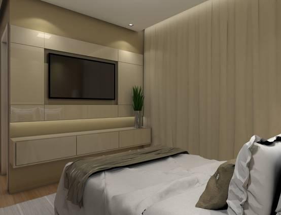 Letto Matrimoniale Incassato Nel Muro : Idee per installare la tv in una camera da letto piccola