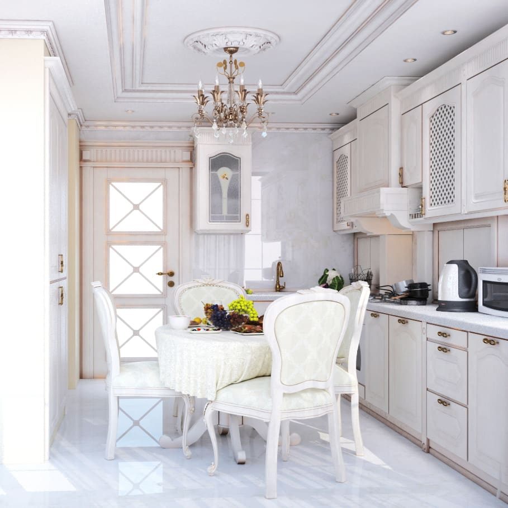 Фото квартиры в классических белых тонах