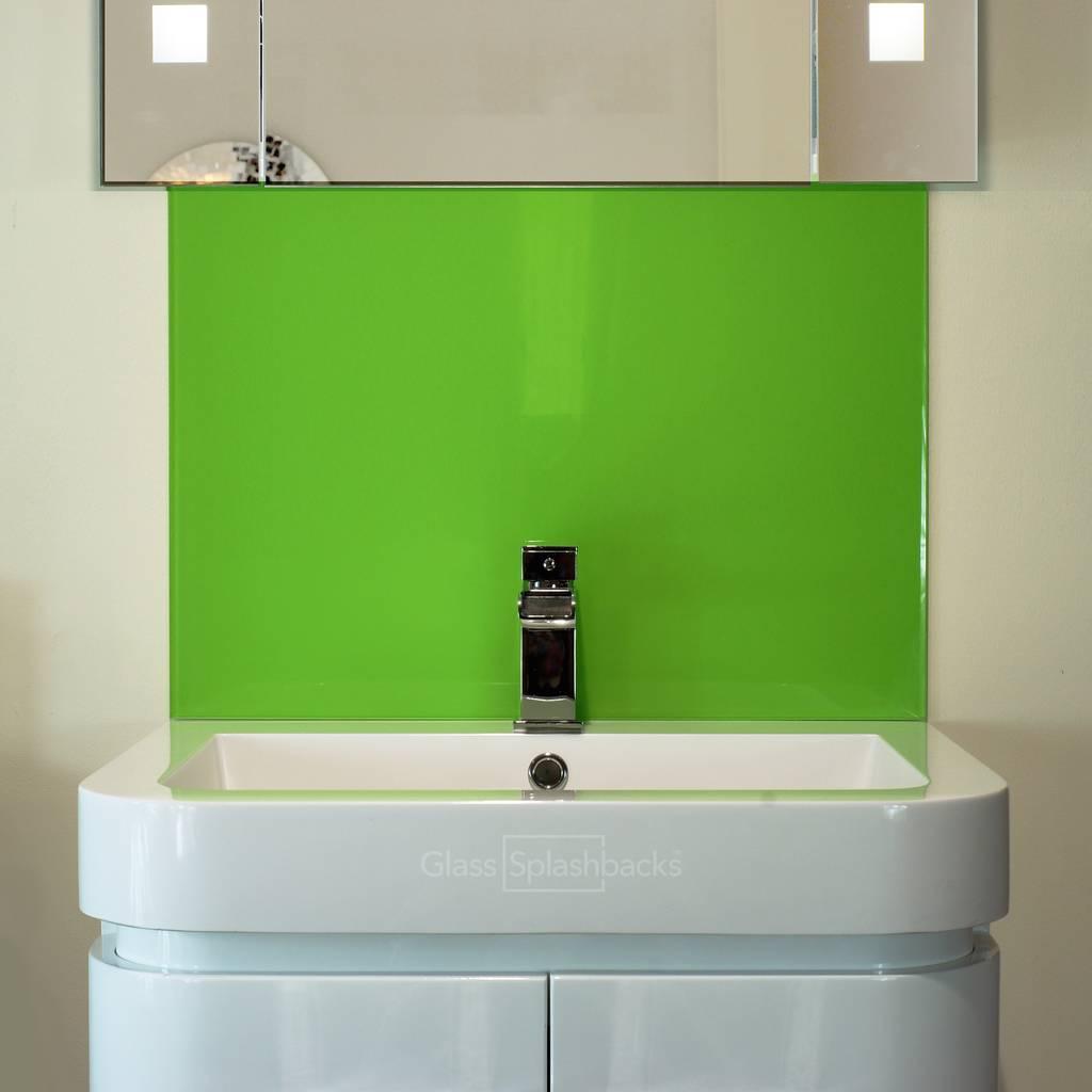 Glass sink splashback modern bathroom by diysplashbacks ...