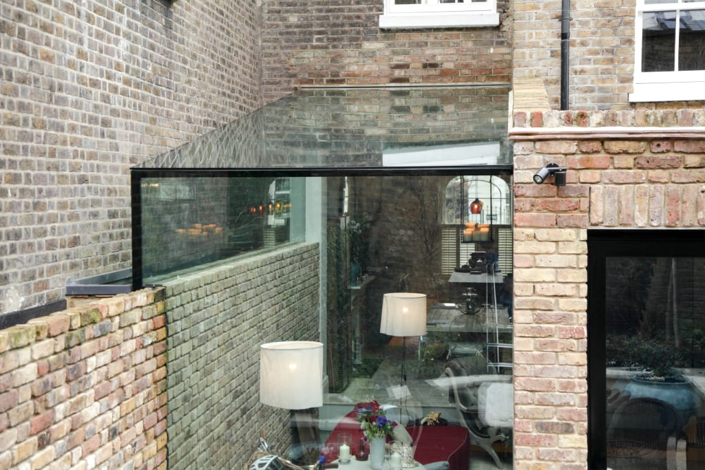 Side Return Frameless Glass Extension London