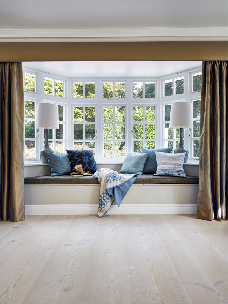 Interior design ideas redecorating remodeling photos for Bay window seat cost uk