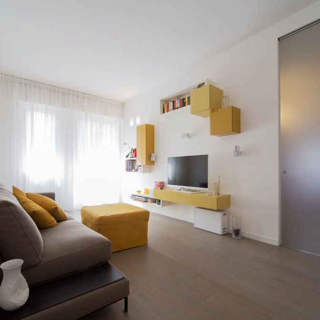 Radiant white soggiorno minimalista di ristrutturami for Soggiorno minimalista