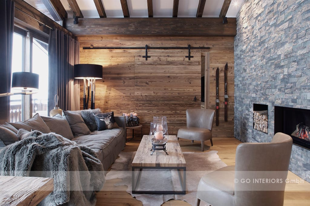 chalet klosters wohnzimmer von go interiors gmbh homify. Black Bedroom Furniture Sets. Home Design Ideas