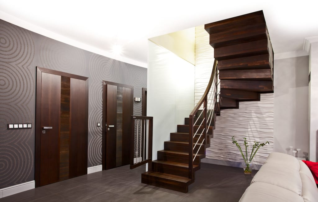 moderner flur diele treppenhaus bilder faltwerktreppe frankfurt homify. Black Bedroom Furniture Sets. Home Design Ideas
