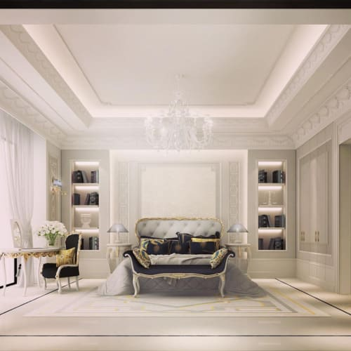 Interior design ideas redecorating remodeling photos for Luxury classic bedroom designs