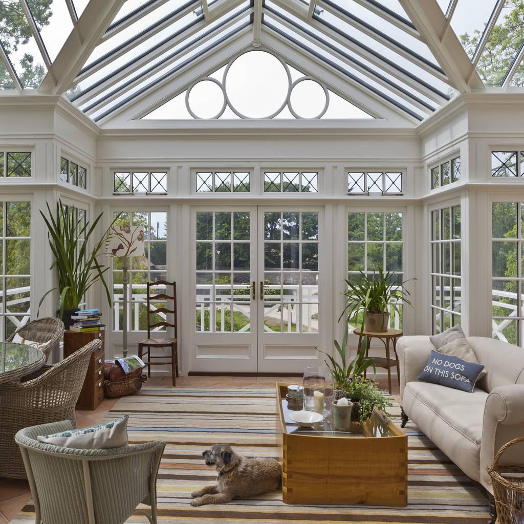 grand conservatory on a substantial channel islands. Black Bedroom Furniture Sets. Home Design Ideas