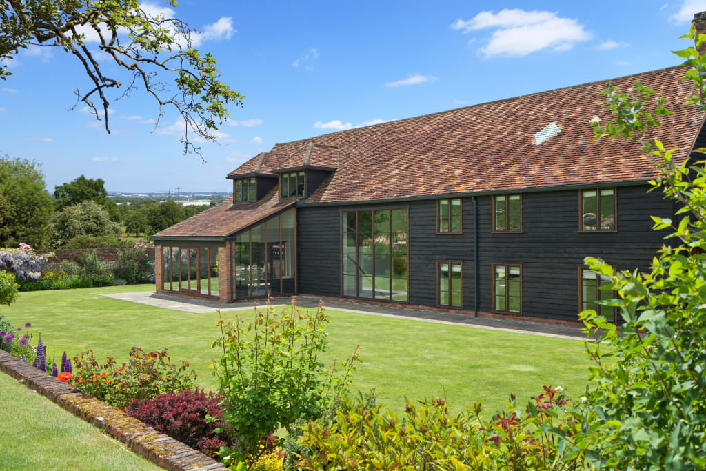 barn conversion with oak conservatory conservatory by. Black Bedroom Furniture Sets. Home Design Ideas