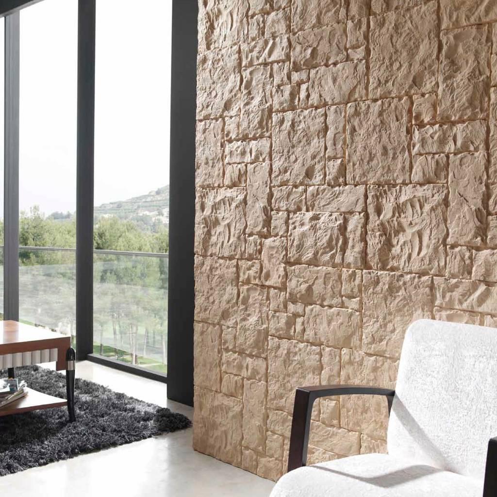 Totalstone reproduce la textura y el color de la piedra - Color piedra paredes ...