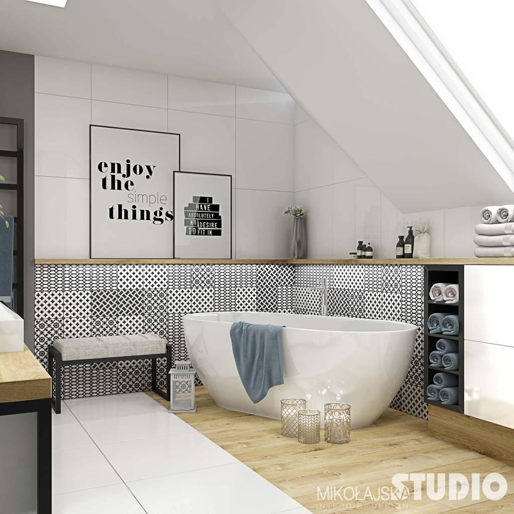 sch ne moderne badezimmer badezimmer von mikolajskastudio homify. Black Bedroom Furniture Sets. Home Design Ideas