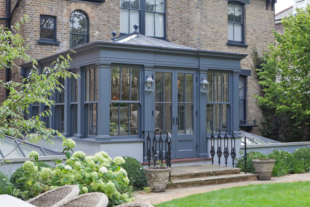 dual level orangery and rooflights transform a london. Black Bedroom Furniture Sets. Home Design Ideas