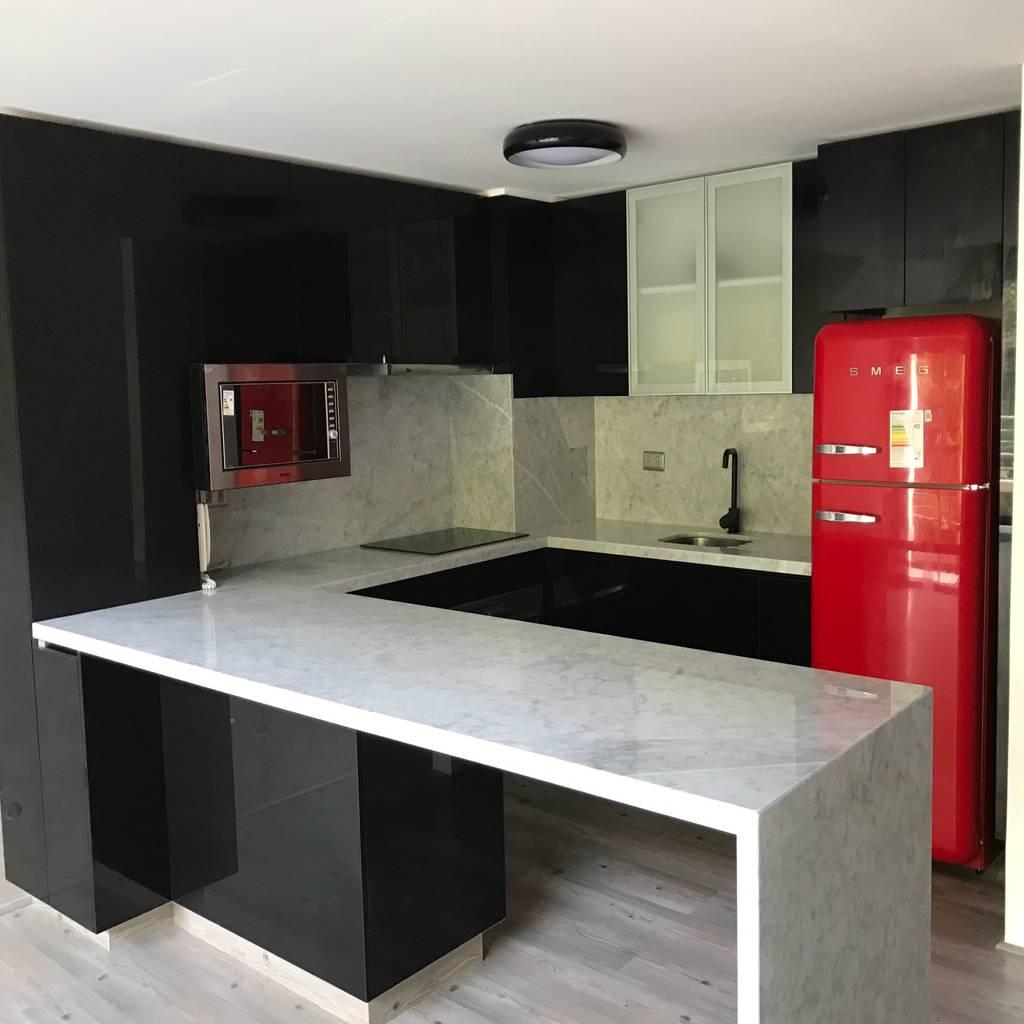 Proyecto cocina providencia cocinas de estilo moderno for Cocina estilo moderno