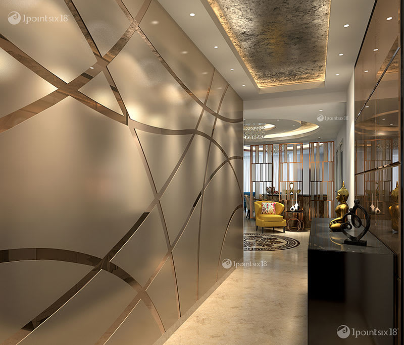 20 Remarkable Modern Hallway Designs That Will Inspire You: Apartment At The Belaire, Dlf 5, Gurgaon (4200 Sft
