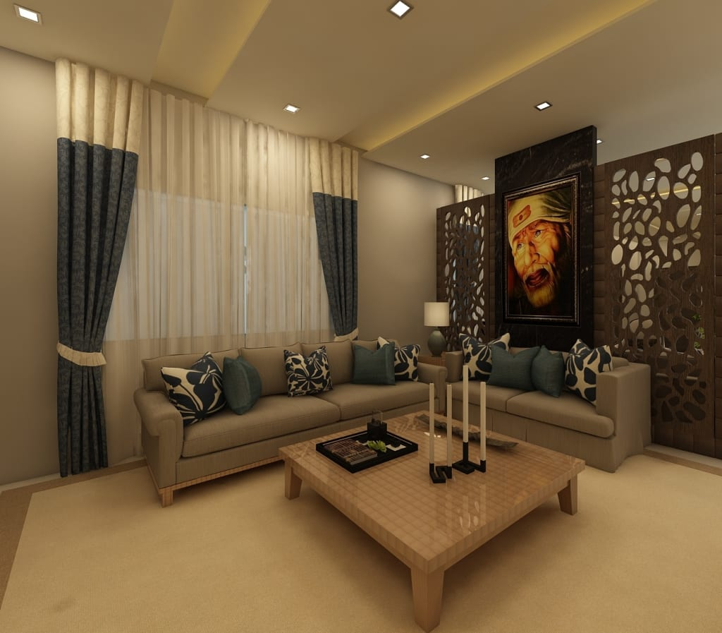 12 Picturesque Small Living Room Design: Living Room : Living Room By Regalias India Interiors