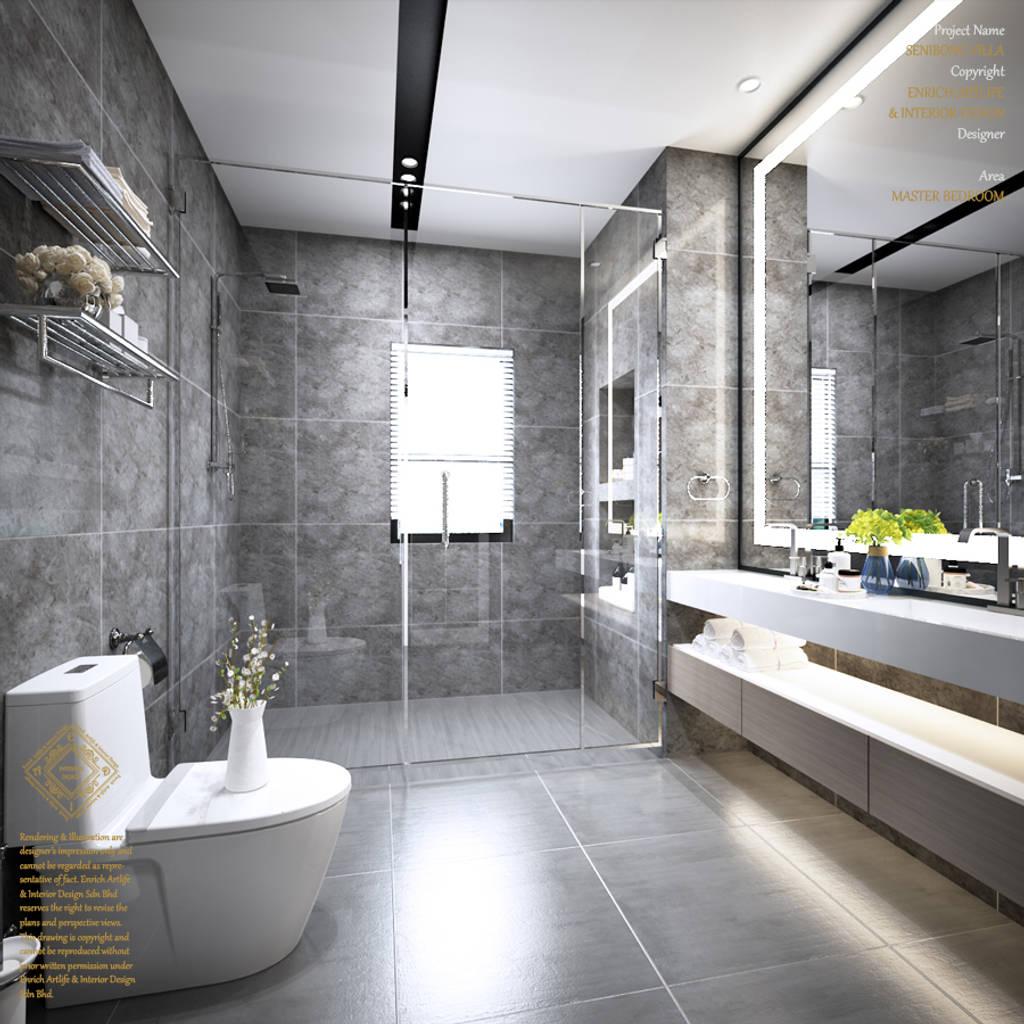 Senibong Villa Johor,malaysia: Bathroom By Enrich Artlife