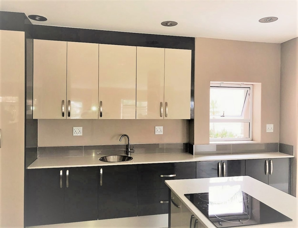 High Gloss Modern Two Tone Kitchen Built In Kitchens By