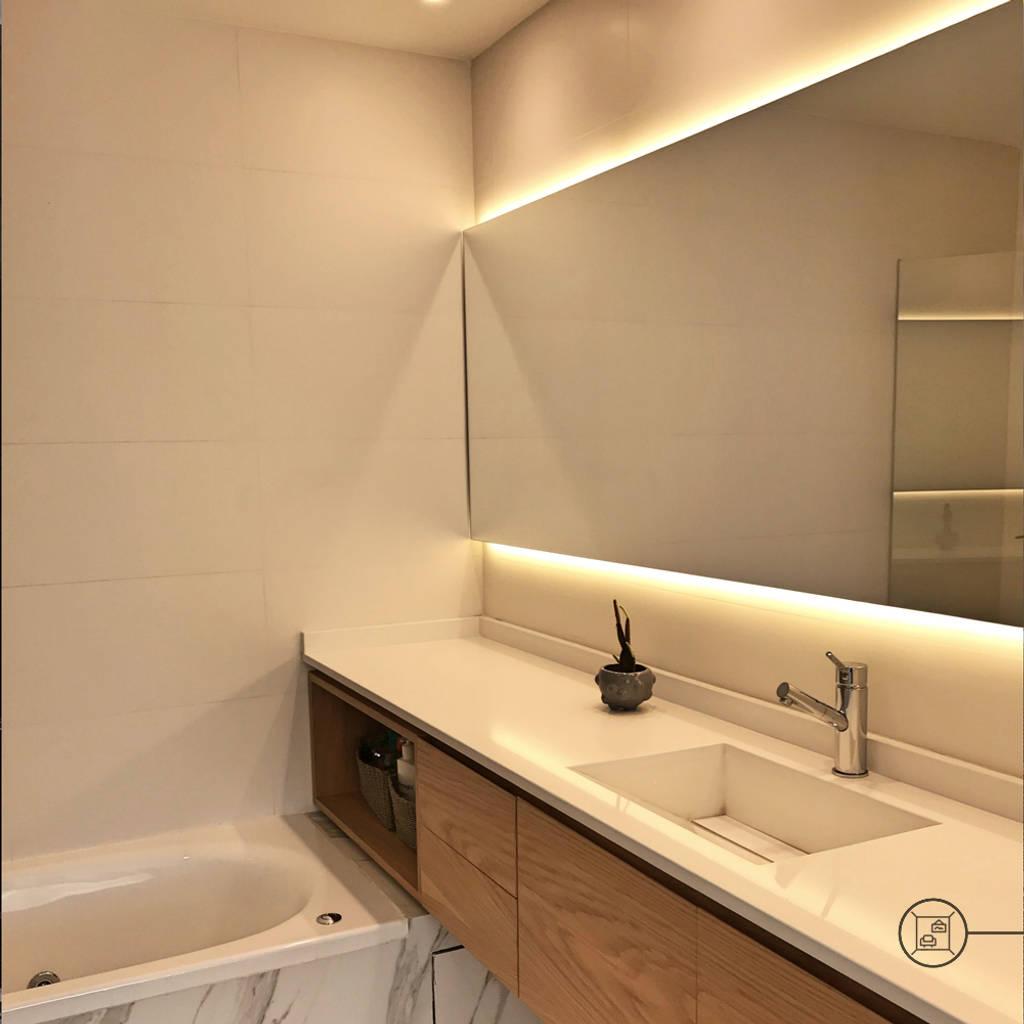 Interiorismo ba os de estilo moderno por kgarquitectura homify - Interiorismo banos modernos ...
