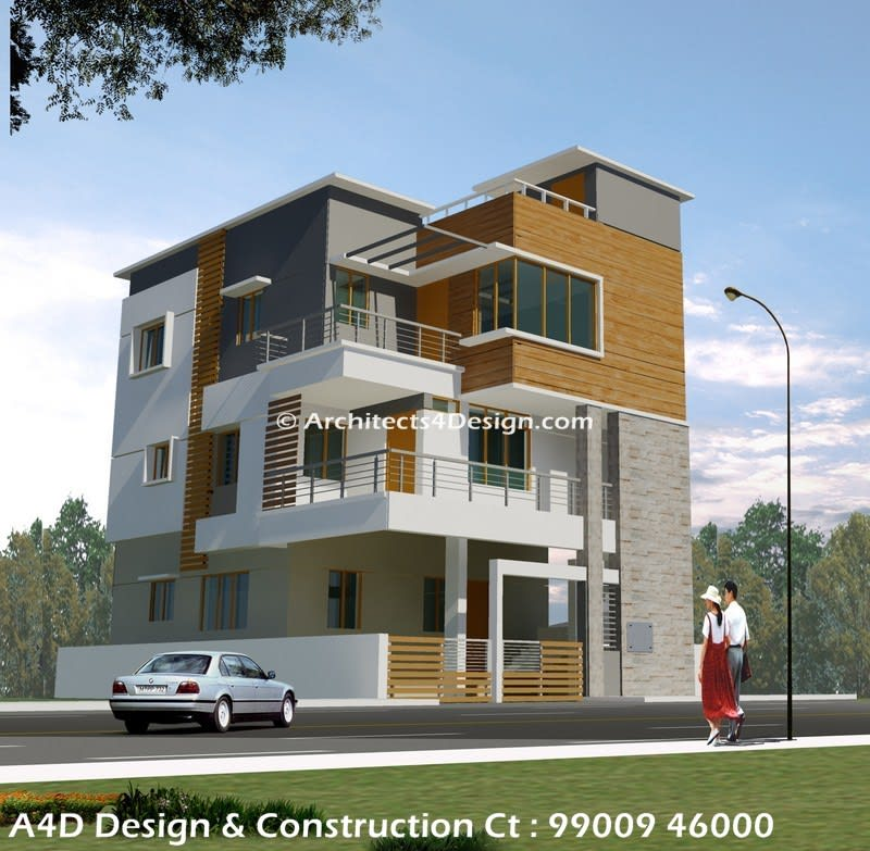3d Elevation Designers In Bangalore: A4 Architects & Building Contractors In Bangalore Offers