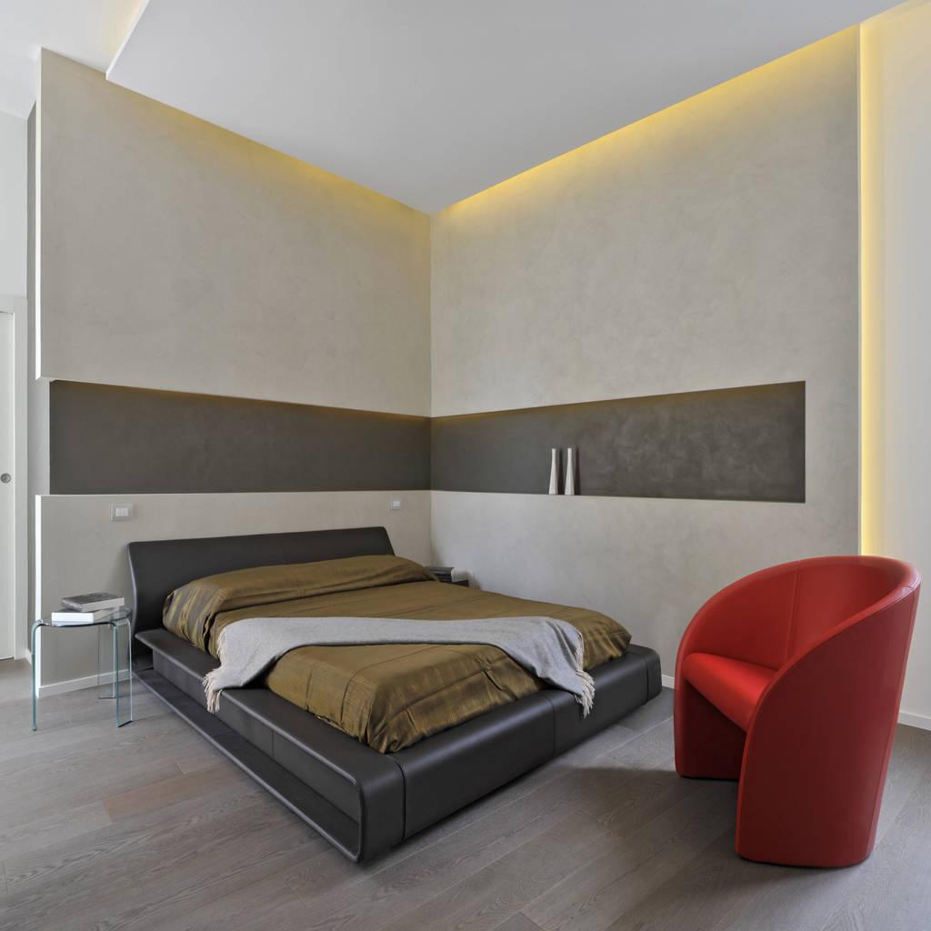 Foto di camera da letto in stile in stile moderno casa for Camera da letto e studio