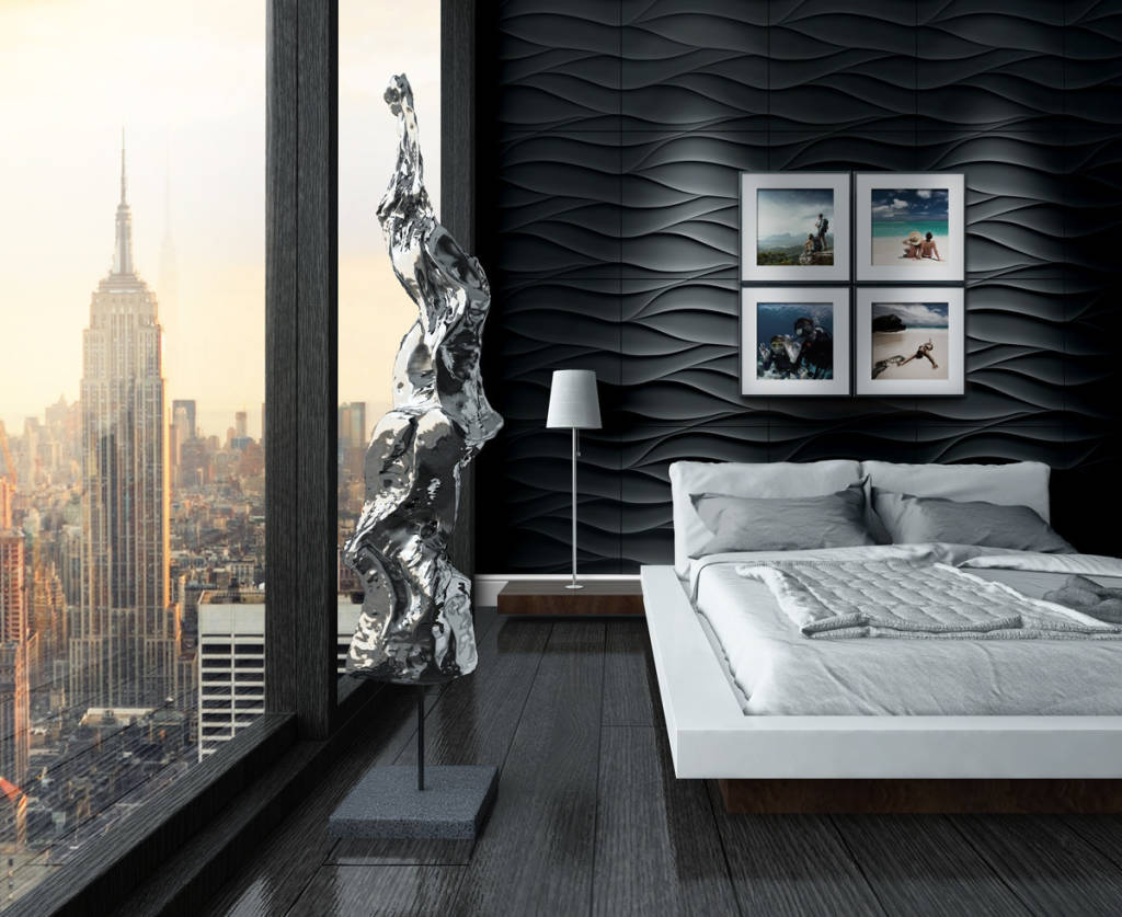 klassische schlafzimmer bilder 3d wandpaneele. Black Bedroom Furniture Sets. Home Design Ideas