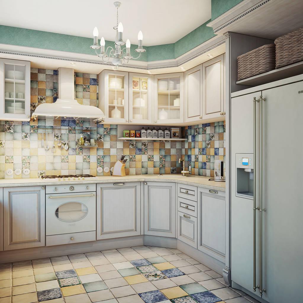 Дизайн кухни в загородном доме, фото Современные