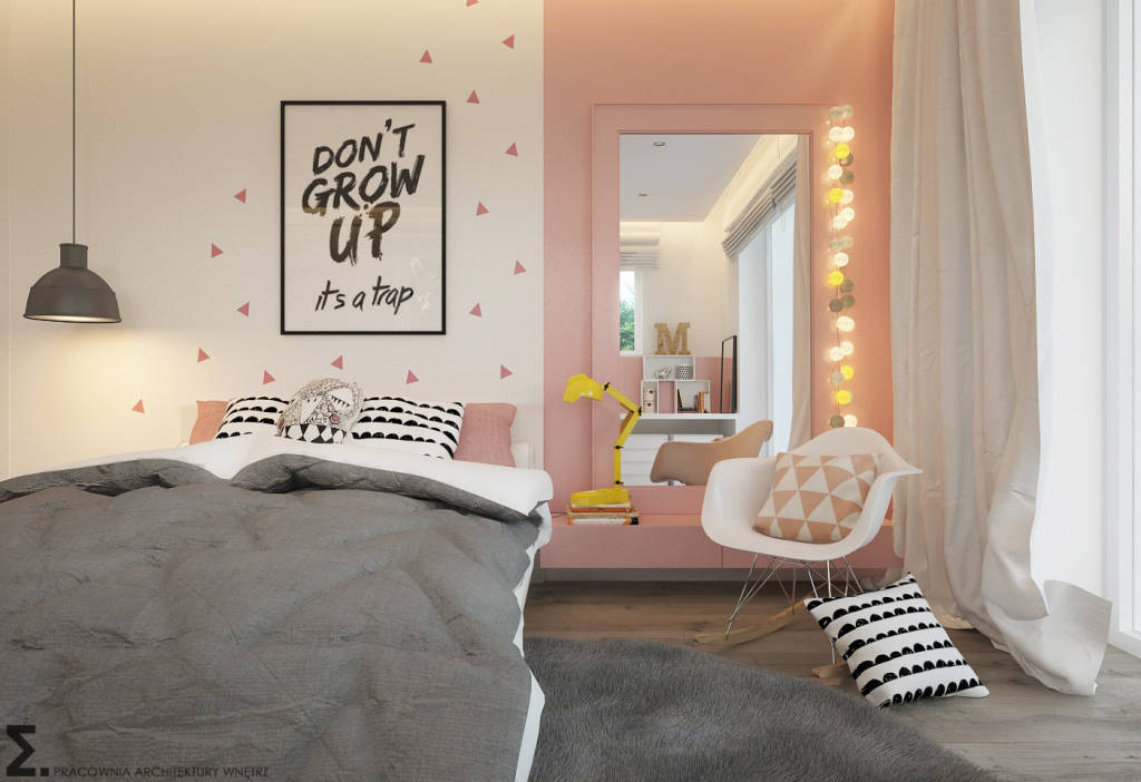 photos de chambre d enfant de style de style moderne par elementy pracownia architektury. Black Bedroom Furniture Sets. Home Design Ideas